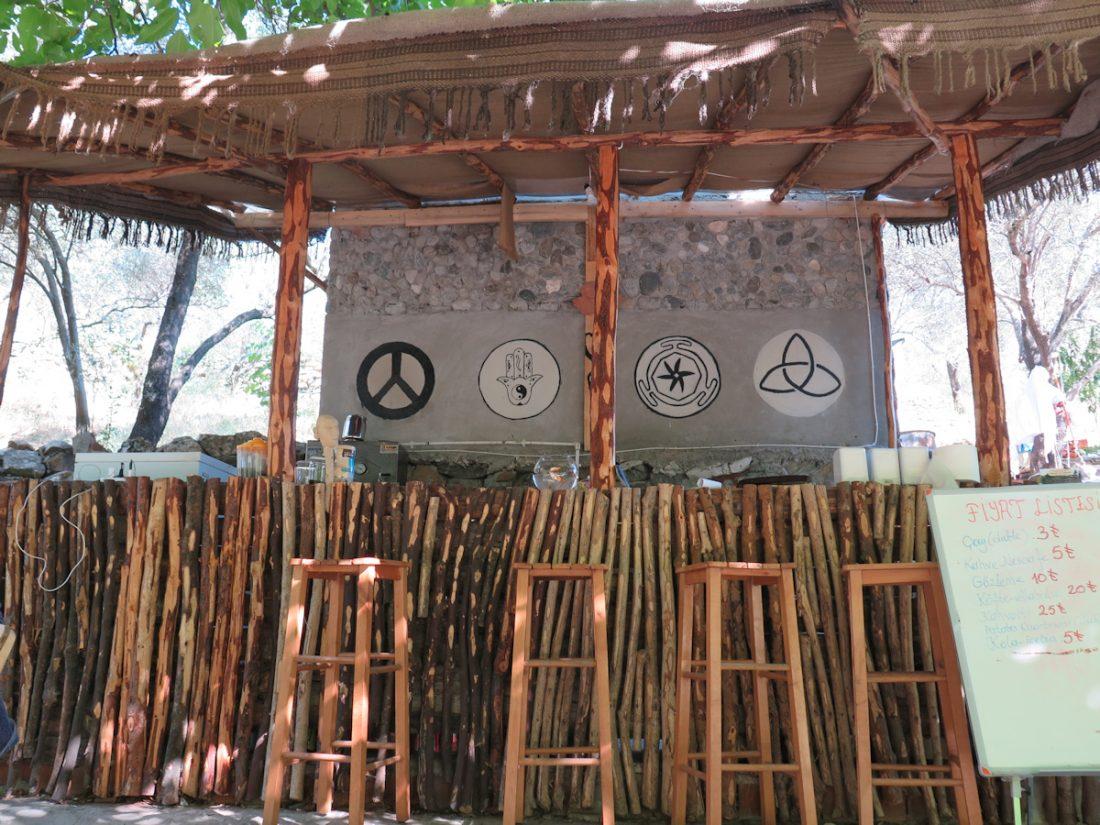 Akaleos'un restoran alanından bir görüntü